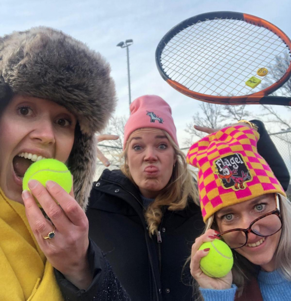 De organisatie Soeptennistoernooi 19 januari 2019: Charlotte, Marle & Elise